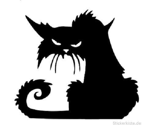 Pegatina Promotion Grimmige böse Katze Cat 20cm Aufkleber,Autoaufkleber,Lack,Scheibe,Wand, UV& Waschanlagenfest Profi Qualität UV& Waschanlagenfest,Profi Qualität