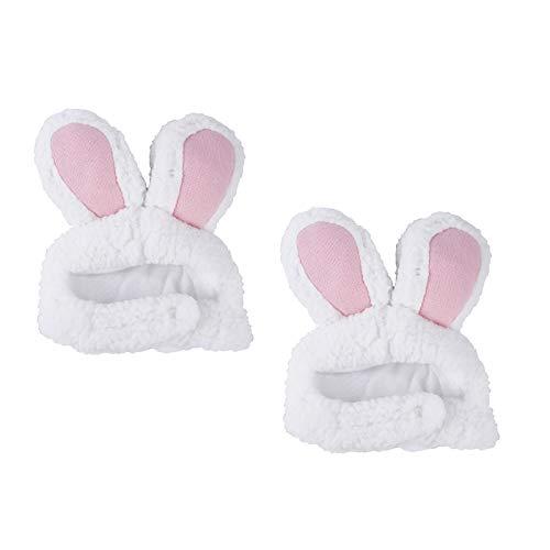 CHENGZI Diadema de orejas de conejo para mascotas con orejas de conejo, gorro para gatos y perros pequeños, accesorio para disfraz, juego de 2