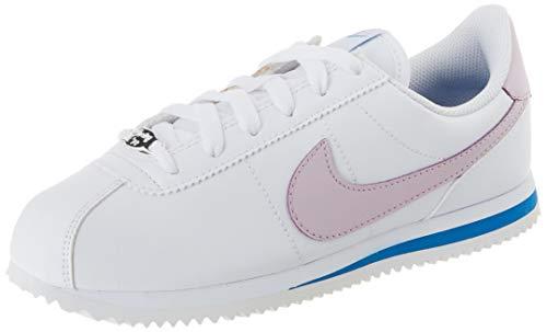 Nike Cortez Basic SL (GS), Zapatillas para Correr para Niños, White Iced Lilac Soar Mtlc Silver, 35.5 EU