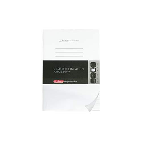 Herlitz 50034093 Refill für Notizheft flex, A4, 2 x 40 Blatt liniert, 1 Stück