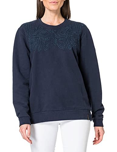 Superdry Bohemian Crafted Sweatshirt Sudadera, Azul Marino, XL para Mujer