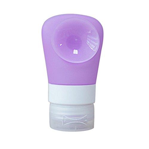Tonsee 38ML Emballage de voyage Ensemble de bouteilles de presse en silicone Set Lotion Shampooing Bath Container (Violet)