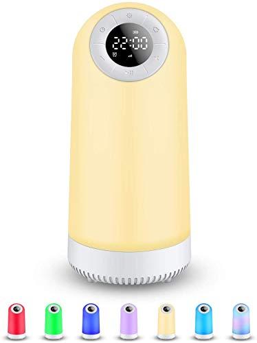 Nachttischlampe Touch Dimmbar Llampe für Schlafzimmer, Farben Tischlampe mit Bluetooth Lautsprecher, Bestes Geschenk für Mädchen und Jungen im Teenageralter (white)