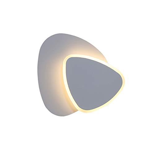 lámpara de pared Lámpara de pared LED creativa Simple Personalidad Dormitorio Escalera de la cama Aisle Lámpara de pared Montado en la pared Luz de pared giratoria con pantalla de acrílico Apliques de