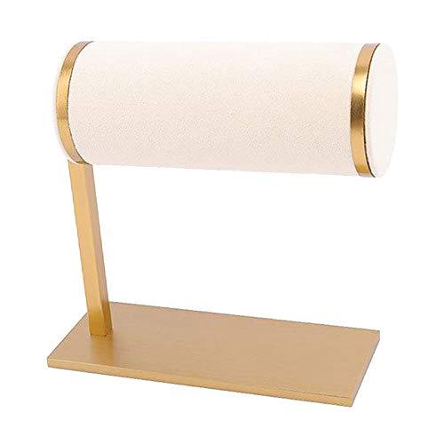 #N/a Soporte de terciopelo para joyas en forma de T soporte de pulsera organizador de exhibición Base de Metal para uso Personal para uso comercial - Beige