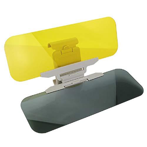 Yosposs Pare-soleil Extender Kz9527-w147 Voiture de jour et de nuit anti-éblouissement Visor, 2 en 1 de qualité premium universel Pare-soleil et vision de nuit Anti-dazzle pare-brise Lunettes de conduite avec bouton de réglage