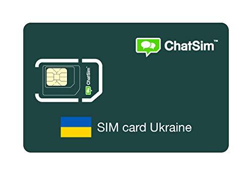 Tarjeta SIM internacional para viajes a UCRANIA y en todo el mundo – ChatSim – cobertura 165 Países, roaming global – red multioperador GSM/2G/3G/4G, sin costes fijos. 1 GB para 30 días