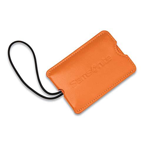 Samsonite Vinyl 2-Pack Rectangle Luggage ID Tags, Orange Tiger, One Size