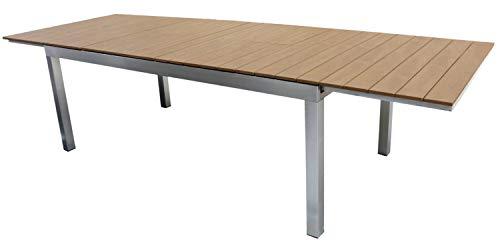 PEGANE Table de Jardin Extensible en Aluminium - 190/240/290 x 100 x 74 cm