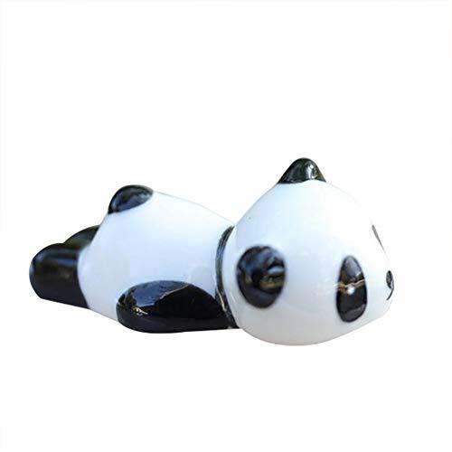 Qinlee Stäbchenhalter Cute Cartoon Panda Stil Chopsticks Rest Keramik Home Decor Tischmanieren Panda form Löffel Gabel Halter