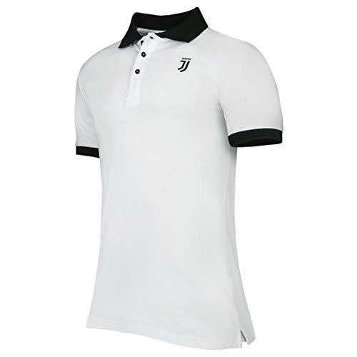 Juventus Polo Bianca con Logo J Nero - Originale - Uomo - Taglia M
