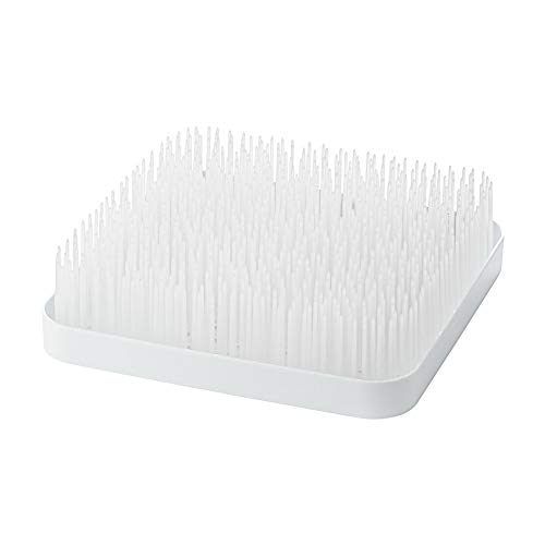 (one size, White) - Boon Winter Grass Countertop Bottle Drying Rack