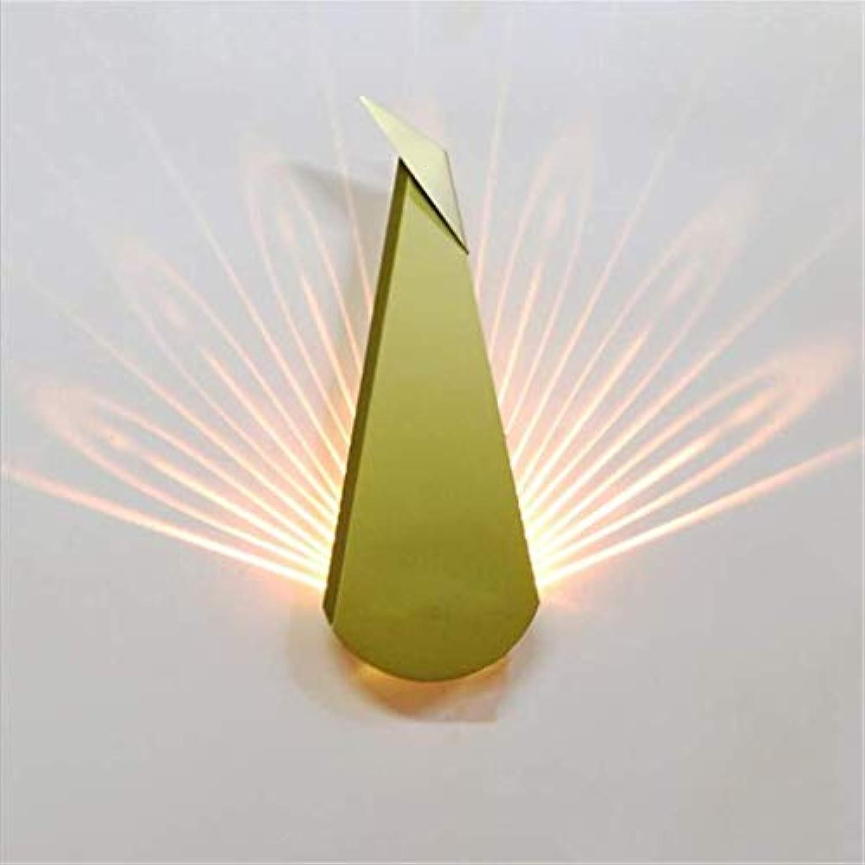 ZHANG NAN ●  Wandleuchte Postmodern Pfau Eisen Metall LED Wandleuchte Für Schlafzimmer Nacht Wohnzimmer Korridor Gang Bar Cafe D14 cm, Gold ●