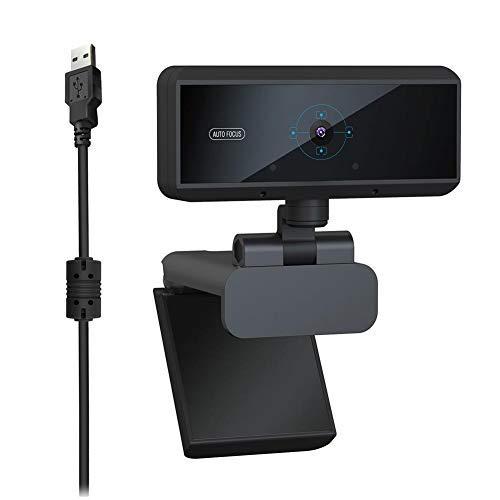 Webcam, videocamera Full HD 1080P con microfono incorporato, fotocamera per PC USB con messa a fuoco automatica da 5 MP flessibile e regolabile per conferenze, videochiamate, per desktop, notebook, PC