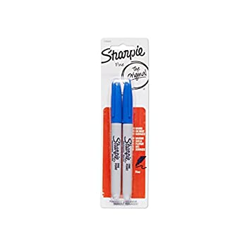 Sharpie Permanent Markers Fine Point Blue 2-Pack  1765449