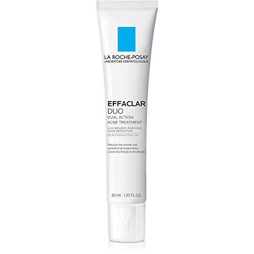 La Roche-Posay Effaclar Duo Dual Action Acne Treatment Cream with Benzoyl Peroxide, 1.35 Fl. Oz