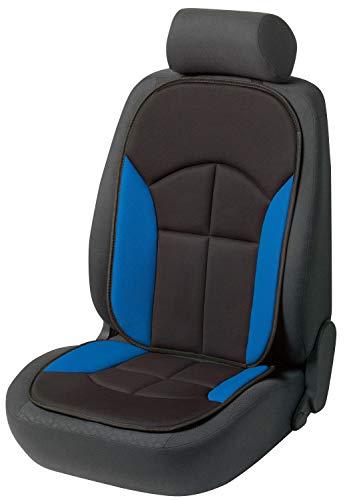 Walser Cubierta del asiento del coche Novara La cubierta del asiento universal y la almohadilla projoectora en Negro azul protector de asiento para coche y camiones 13445
