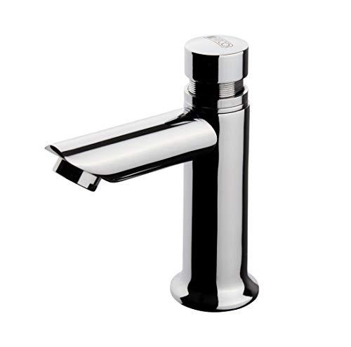 ATCO® TIEMPO Standventil Armatur Kaltwasserhahn Kaltwasser Auslaufventil Wasserhahn Auslauf Waschbecken selbstschließend Selbstschluss zeitgesteuerte Timer Zeitverschluss chrom