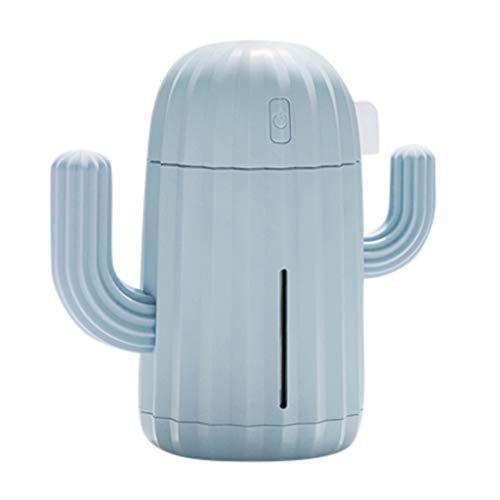 Dingong Humidificateur,340ML mini Creative cactus air diffuseur de voiture de bureau à domicile humidificateur d'air portable (C)
