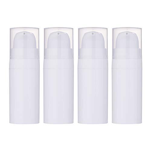 BENECREAT 10 Pack 10ml Bottiglia di Bomba Vuota Bianca Contenitore in Plastica per Creme Idratanti per Dispenser di Lozioni
