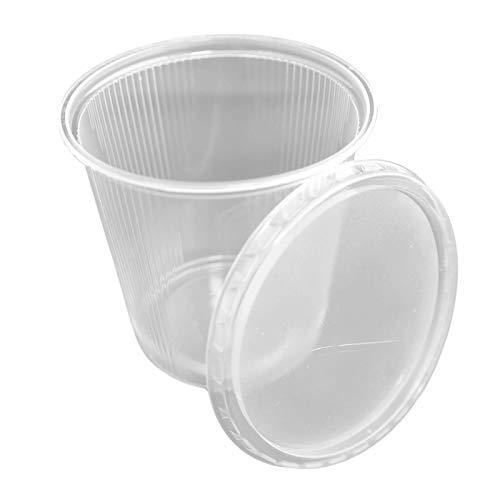 250 Verpack-Becher + Deckel rund 500ml d=101mm transparent Polypropylen