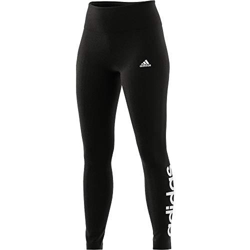 adidas Damen Essentials High-Waisted Logo Tight, Black/White, M