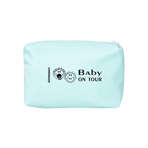 Söhngen Erste-Hilfe-Tasche Baby on Tour blau (Reißverschlusstasche für Kleinkinder; beschichtetes...