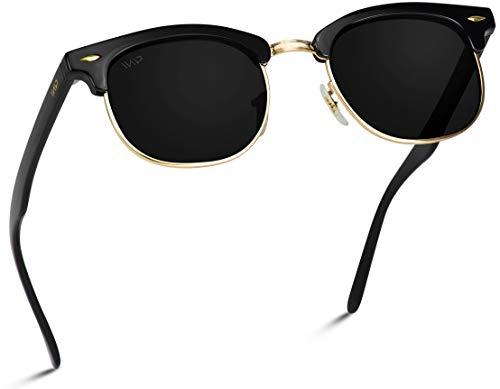 Price comparison product image WearMe Pro - Polarized Classic Half Frame Semi Rimless Retro Sunglasses