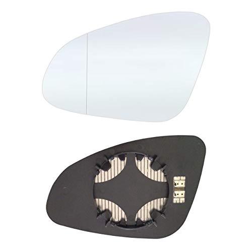 Links Fahrerseite Asphärish Spiegelglas mit Platte und Heizung #AM-OLASAJ10-LWAH