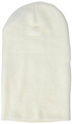 MSTRDS Bonnet Unisexe Basic Flap Version Longue. Taille Unique Blanc.