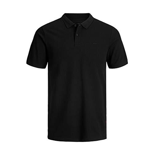 Jack & Jones Jjebasic Polo SS Noos - Camiseta para Hombre, Negro , Talla XL