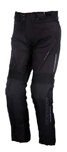 Modeka Motorradhose LONIC schwarz wasserdicht Thermo Hosenträger und Protektoren, Kurz-4XL