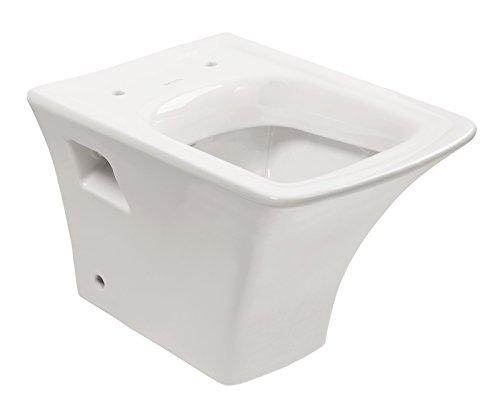 Wand-WC-Set queDa, Weiß, Inklusive WC-Sitz mit Soft-Close-Absenkautomatik, Tiefspüler