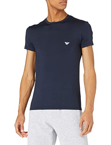 Emporio Armani Heren Underwear All Over Graphic Logo T-shirt