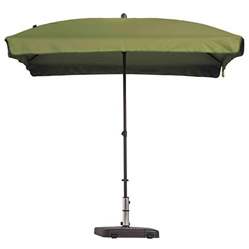 Madison Sonnenschirm Knickbar Gartenschirm Ampelschirm Balkonschirm Marketschirm Strandschirm Schirm Sonnenschutz Rechteckig 210x140 cm Salbeigrün