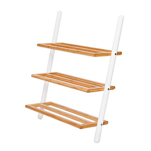 Shoe rack Suelo multifuncional de pared inclinada de bambú CWT