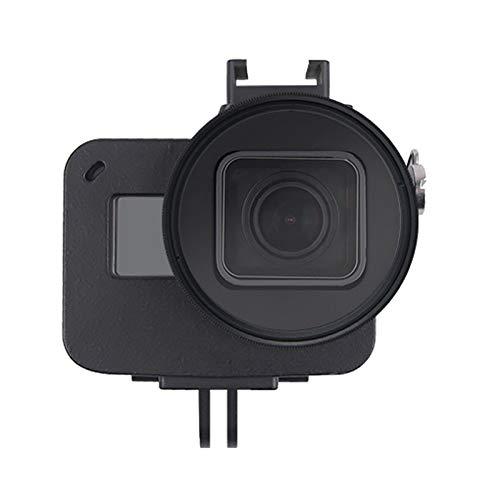 ZHANGQUAN Cas de l'appareil Photo Haute qualité Shell Housing CNC en Alliage d'aluminium de Protection Cage avec Assurance Cadre et UV 52mm for Objectif GoPro HERO7 Noir / 6/5 (Noir) (Color : Black)