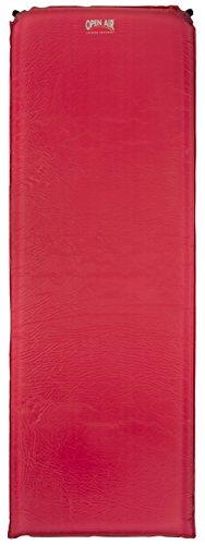 Open Air selbstaufblasbare Isomatte 7,5 cm Luftmatratze, 190 x 65 x 7,5 cm, rot, 905004