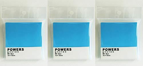 プリントインフォームジャパン gnotes 粘着力と糊面積アップふせん 「POWERS」75×75mm 【3個セット】 (ブルー)