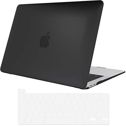 ProCase Hülle für MacBook Pro 13 Zoll 2020 Abdeckung A2289/A2251 Case Cover,Ultraflaches,durchscheinendes,Gummibeschichtetes Hardcover Gehäuse für MacBook Pro 13.3 –Schwarz