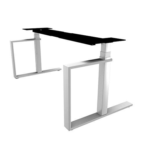Inwerk Schreibtischgestell Masterlift 3, elektrisch (Bügel weiß, Säule Chrom)
