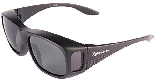 Rapid Eyewear ÜBERBRILLE Sonnenbrille für Damen und Herren. Polarisierte Sonnenüberbrille. Ideal Radbrille, Autobrille und Anglerbrille. Überzieh Sonnenbrille mit Blaulichtfilter