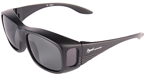 Rapid Eyewear dames – heren POLARISERENDE OVERZET ZONNEBRIL voor wie een bril met sterkte nodig heft. Perfect voor vissen, golfen, fietsen, autorijden, schieten etc. UV400 bescherming