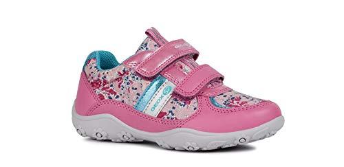 Geox Mädchen Low-Top Sneaker Adalyn Girl J926BB Kinder Halbschuh,Sportschuh,Klettschuh, Klett-Verschluss,PINK/Fuchsia,31
