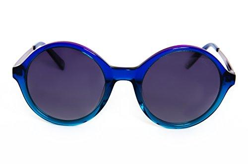 Lois - Bella BL Blue, Gafas de Sol Moda Mujer Pasta, Azul/Gris Polarizada mujer redondas polarizado Gris