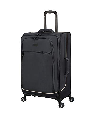 it luggage Encircle Softside Expandable Spinner, Charcoal Grey/Smoked Pearl, Checked-Medium 28-Inch