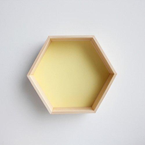 ZWJRXM DFHHG® Regale, sechseckiges Bienenwaben-Regal-kreative Gitter-Feste hölzerne Wand 30 * 35 * 18cm Stark und langlebig (Farbe : #2)
