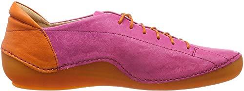 Think! Damen KAPSL_484062 Brogues, Pink (Fuxia/Kombi 36), 39 EU
