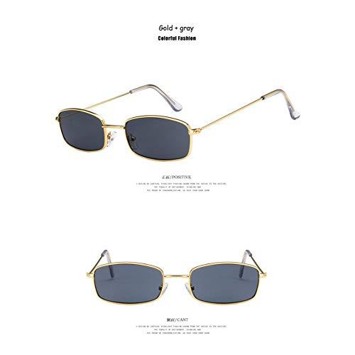 SHENY Sonnenbrillen Frauen Männer Vintage Rihanna Brillen Lady Brillen Goldgrau