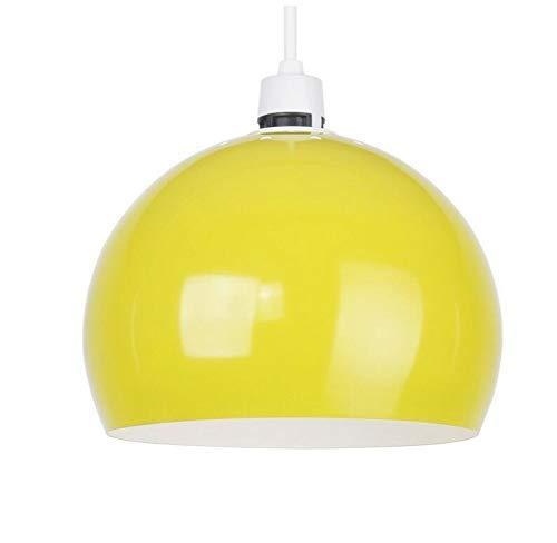 W-LI Deckenleuchten Lampen Kronleuchter Pendelleuchten Mini Retro Glanz Gelb Arco Style Dome Deckenpendelleuchte Schatten für Schlafzimmer Wohnzimmer Küche Gang Restaurant Bar Café